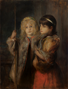 Image of Marion Lenbach and the Daughter of the Painter Nikolaus Gysis