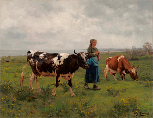 Image of Peasant Girl with Cattle