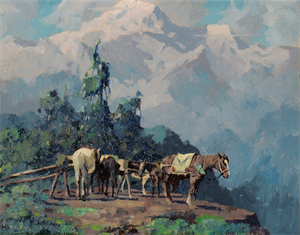 Image of Untitled [Packhorses, Mt. McKinley]
