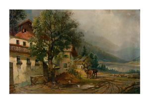 Image of Untitled [Landscape with houses]