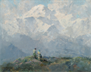 Image of Mt. McKinley, painted at Talkeetna