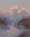 Image of Mt. McKinley from the Tokositna River